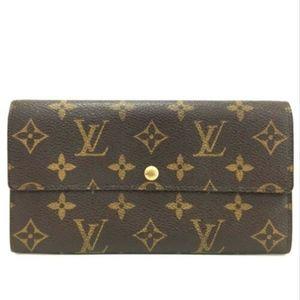 Louis Vuitton Monogram Portefeiulle Sarah Wallet